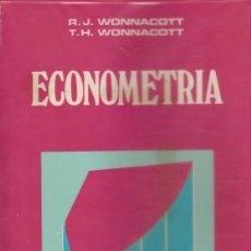 Livres d'occasion: ECONOMETRIA - WONNACOTT, R.J. & WONNACOTT, T.H. - AGUILAR (MADRID) 1982. Lote 43357681