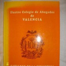 Libros de segunda mano: CATALOGO DE LA BIBLIOTECA 1994 ILUSTRE COLEGIO DE ABOGADOS DE VALENCIA. Lote 43412728