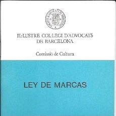 Libros de segunda mano: LIBRO DE DERECHO - Nº 29: LEY DE MARCAS - 1989. Lote 43424156