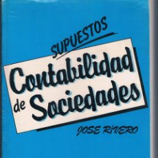 Libros de segunda mano: SUPUESTOS DE CONTABILIDAD DE SOCIEDADES JOSÉ RIVERO 1984 EDITORIAL TRIVIUM. Lote 43549861