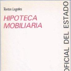 Libros de segunda mano: HIPOTECA MOBILIARIA. Lote 43611698