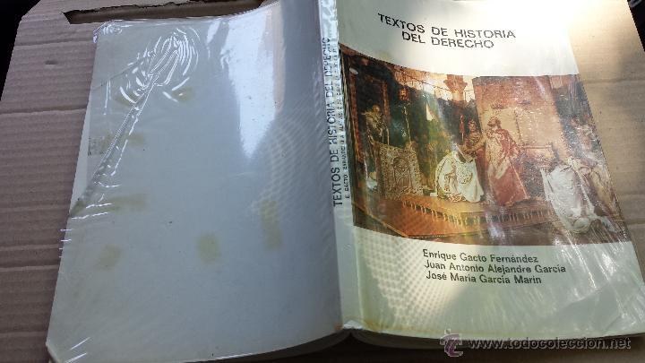 LIBRO DERECHO: TEXTOS DE HISTORIA DEL DERECHO GACTO ALEJANDRE Y GARCIA NX (Libros de Segunda Mano - Ciencias, Manuales y Oficios - Derecho, Economía y Comercio)