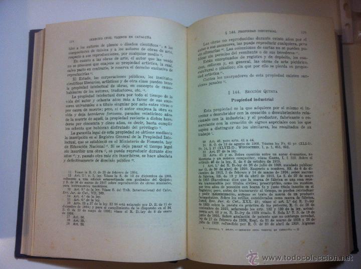 Libros de segunda mano: DERECHO CIVIL VIGENTE EN CATALUÑA. ANTONIO BORRELL Y SOLER. OBRA COMPLETA EN 5 TOMOS. 1944 - Foto 6 - 43723340