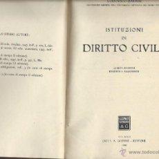 Libros de segunda mano: ISTITUZIONI DI DIRITTO CIVILE, LODOVICO BARASSI, MILANO DOTT A. GIUFFRÉ EDITORE 1948. Lote 43739321
