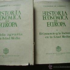 Libros de segunda mano: HISTORIA ECONÓMICA DE EUROPA (2 VOLÚMENES) 1967. Lote 43843998