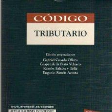 Libros de segunda mano: CODIGO TRIBUTARIO - ED. ARANZADI - EDICIÓN DE SEPTIEMBRE DE 2000. Lote 43998803