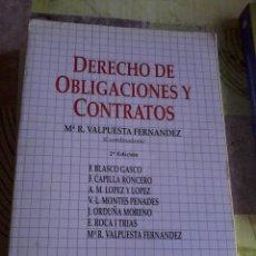 Libros de segunda mano: DERECHO DE OBLIGACIONES Y CONTRATOS. Mª R. VALPUESTA FERNANDES COORDINADORA. 2ª EDICION. EST13B5. Lote 44242624