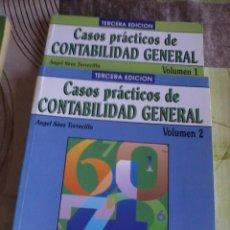 Libros de segunda mano: CASOS PRÁCTICOS DE CONTABILIDAD GENERAL ANGEL SÁEZ TORRECILLA. VOLUMEN 1 Y 2. EST13B5. Lote 44242706