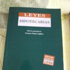 Libros de segunda mano: LEYES HIPOTECARIAS. EDICIÓN PREPARADA POR CARMEN GÓMEZ LAPLAZA. SEPTIEMBRE 1998. EST4B2. Lote 44252669