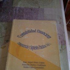Libros de segunda mano: CONTABILIDAD FINANCIERA. TRANSPARENCIAS Y SUPUESTOS PRACTICOS. VOL 1- EST18B3. Lote 44773651