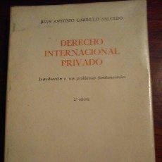 Libros de segunda mano: DERECHO INTERNACIONAL PRIVADO- JUAN ANTONIO CARRILLO 2DA ED. TECNOS. Lote 44830828