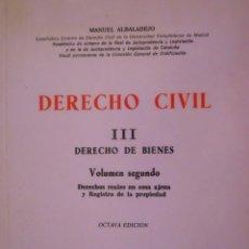 Libros de segunda mano: DERECHO CIVIL. Lote 45050356