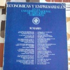 Libros de segunda mano: ECONOMICAS Y EMPRESARIALES. EN LA UNIVERSIDAD NAC. DE EDUC. A DISTANCIA. EST10B4. Lote 45290570