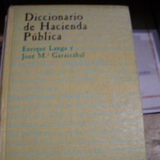 Libros de segunda mano: DICCIONARIO DE HACIENDA PÚBLICA (MADRID, 1990). Lote 45611204