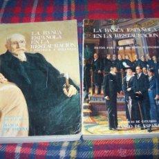 Libros de segunda mano: LA BANCA ESPAÑOLA EN LA RESTAURACIÓN. 2 TOMOS. 1974. EXCELENTES EJEMPLARES.VER FOTOS.. Lote 45761481