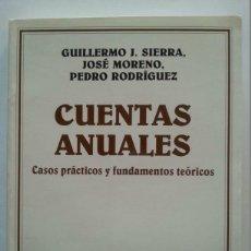 Libros de segunda mano: GUILLERMO J. SIERRA ET AL.: CUENTAS ANUALES. CASOS PRÁCTICOS Y FUND. TEÓRICOS. (1ª ED.) ARIEL, 1993. Lote 46610439