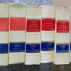 Libros de segunda mano: 10 LIBROS - ARANZADI AÑOS 80 -- REPERTORIO CRONOLÓGICO DE LEGISLACIÓN 1986 – 87 - 89. Lote 103254088
