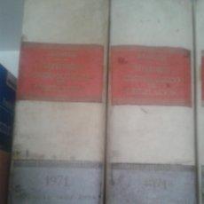 Libros de segunda mano: LOTE 2 TOMOS REPERTORIO CRONOLOGICO DE LEGISLACION ARANZADI AÑO 1971. Lote 48917623