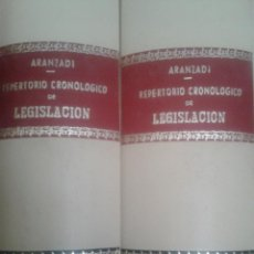 Libros de segunda mano: LOTE 2 TOMOS REPERTORIO CRONOLOGICO DE LEGISLACION ARANZADI AÑO 1979. Lote 48917641
