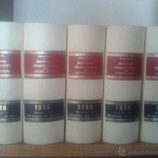 Libros de segunda mano: LOTE 5 TOMOS REPERTORIO CRONOLOGICO DE LEGISLACION ARANZADI AÑO 1986. Lote 51078318