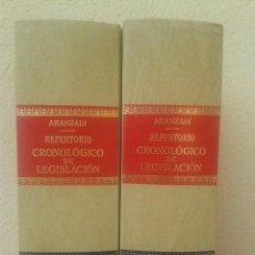 Libros de segunda mano: LOTE 2 TOMOS REPERTORIO CRONOLOGICO DE LEGISLACION ARANZADI AÑO 1987. Lote 48917739