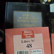 Libros de segunda mano: BIBLIOTECA EMPRESARIAL DEUSTO N. 48 MANUAL DE MARKETING DE INTERNACIONAL. J. STAPLETON. NUEVO. Lote 49365724