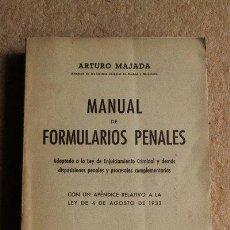 Libros de segunda mano - Manual de formularios penales. Majada (Arturo) - 49791031