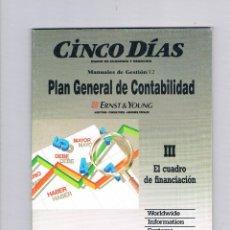 Libros de segunda mano: EL CUADRO DE FINANCIACIÓN PLAN GENERAL DE CONTABILIDAD CINCO DÍAS 1990. Lote 49998981