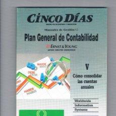 Libros de segunda mano: CÓMO CONSOLIDAR LAS CUENTAS ANUALES PLAN GENERAL DE CONTABILIDAD CINCO DÍAS 1990. Lote 49999058