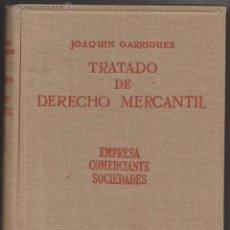 Libros de segunda mano: TRATADO DE DERECHO MERCANTIL. JOAQUIN GARRIGUES. TOMO I VOL. 2 º. MADRID 1947.. Lote 50566875
