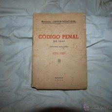 Libros de segunda mano: CODIGO PENAL 1944. Lote 51064760