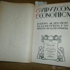 Libros de segunda mano: GUIPUZCOA ECONÓMICA. VARIOS BOLETINES ENCUADERNADOS DESDE ENERO DE 1953 HASTA DICIEMBRE DE 1954. Lote 51103803