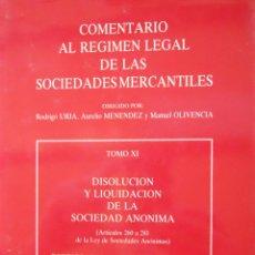 Libros de segunda mano: COMENTARIO AL RÉGIMEN LEGAL DE LAS SOCIEDADES MERCANTILES TOMO XI. Lote 51177090