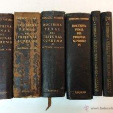 Livres d'occasion: DOCTRINA PENAL DEL TRIBUNAL SUPREMO. 4 TOMOS Y DOS APÉNDICES. RODRÍGUEZ NAVARRO. 1947-1950. AGUILAR. Lote 51185443