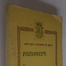 Libros de segunda mano: PRESUPUESTO DE GASTOS E INGRESOS DIPUTACION PROVINCIAL DE CUENCA AÑO 1970. Lote 51214143