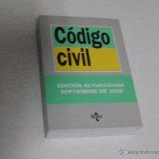 Libros de segunda mano: LIBRO CÓDIGO CIVIL, DE TECNOS. EDICIÓN ACTUALIZADA SEPTIEMBRE 2008. NUEVO. Lote 51391598