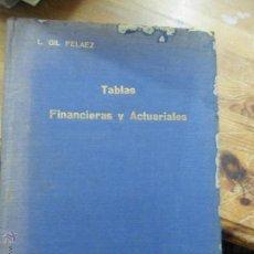 Libros de segunda mano: LIBRO TABLAS FINANCIERAS L. GIL PELAEZ 1959 ED. DOSSAT L-8760-43. Lote 51710217