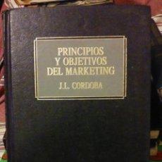 Libros de segunda mano: PRINCIPIOS Y OBJETIVOS DEL MARKETING - J,L, CÓRDOBA. Lote 51759978