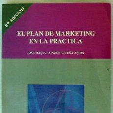 Libros de segunda mano: EL PLAN DE MARKETING EN LA PRÁCTICA - JOSÉ Mª SAINZ DE VICUÑA ANCIN - ED. ESIC 1996 - VER INDICE. Lote 51959751
