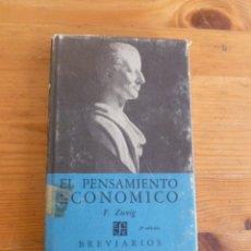 Libros de segunda mano: EL PENSAMIENTO ECONOMICO. F.ZWEIG. FONDO CULTURA ECONOMICA.1975 214 PG. Lote 52147058