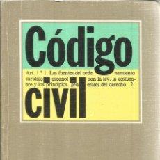Libros de segunda mano: CÓDIGO CIVIL. EDITORIAL TECNOS. MADRID. 1992. Lote 52288041
