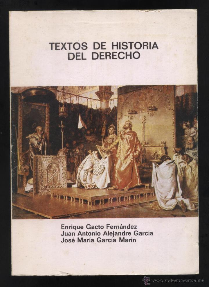TEXTOS DE HISTORIA DEL DERECHO DF-156 (Libros de Segunda Mano - Ciencias, Manuales y Oficios - Derecho, Economía y Comercio)