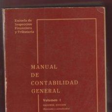 Libros de segunda mano: MANUAL DE CONTABILIDAD GENERAL JORGE BUIREU GUARRO AÑO 1978 SEGUNDA EDICIÓN 2 TOMOS LE700. Lote 53330240