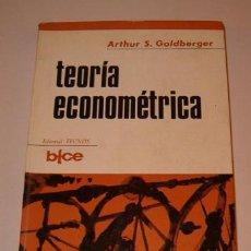Libros de segunda mano: ARTHUR S. GOLDBERGER. TEORÍA ECONOMÉTRICA. RM72646. . Lote 53585747