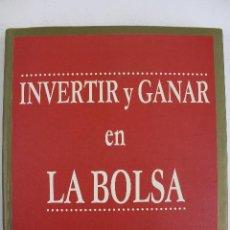 Libros de segunda mano: L-2934. INVERTIR Y GANAR EN LA BOLSA. PATRICIA CRESPO. GESTION 2000. MARZO 2000.. Lote 53680918