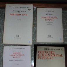 Libros de segunda mano: INSTITUCIONES DE DERECHO CIVIL. CURSO DE DERECHO PENAL. DERECHO INTERNACIONAL PÚBLICO. LOTE DE 4 LIB. Lote 54059854