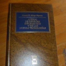 Libros de segunda mano: CODIGO DERECHO INFORMATICO Y DE LAS NUEVAS TECNOLOGIAS.GALLEGO HIGUERAS.CIVITAS.2002 1185PP. Lote 54098832
