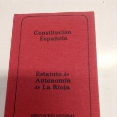 Libros de segunda mano - Constitucion española - estatuto autonomia de la rioja - diputacion de la rioja - tdk253 - 54621307