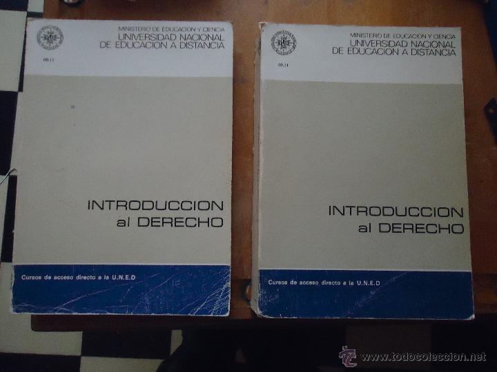 INTRODUCCION AL DERECHO - CURSO ACCESO DIRECTO A LA UNED - UNIDAD DIDACTICA 1 Y 4 - LEER (Libros de Segunda Mano - Ciencias, Manuales y Oficios - Derecho, Economía y Comercio)