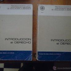 Libros de segunda mano: INTRODUCCION AL DERECHO - CURSO ACCESO DIRECTO A LA UNED - UNIDAD DIDACTICA 1 Y 4 - LEER. Lote 54828901